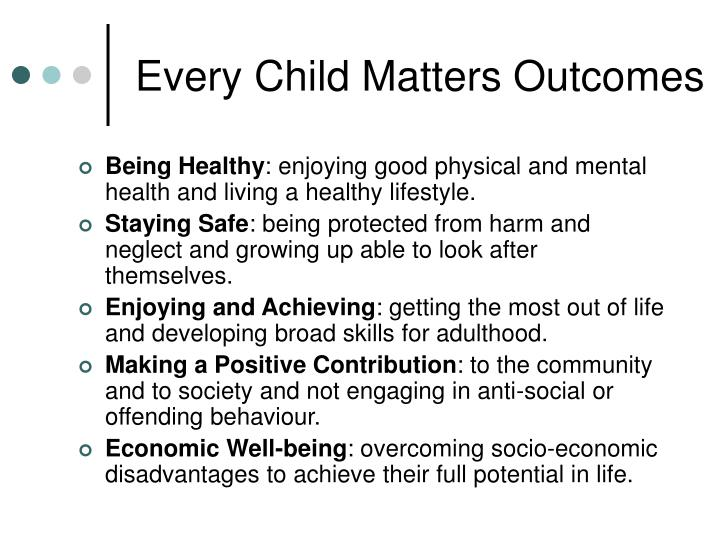 Every Child Matters Outcomes