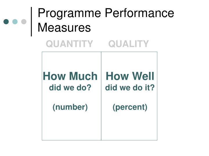 Programme Performance Measures