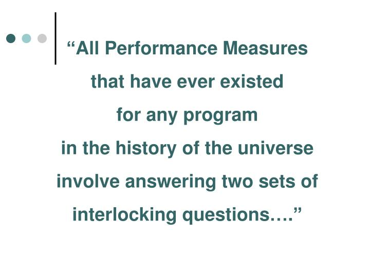 """All Performance Measures"