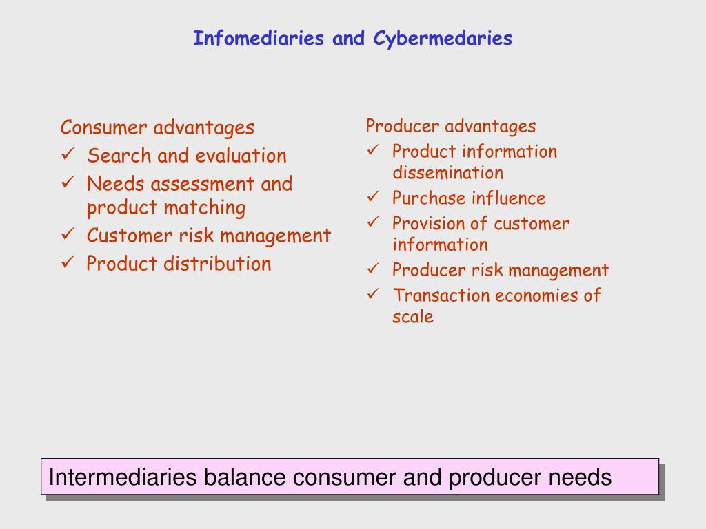 Infomediaries and Cybermedaries