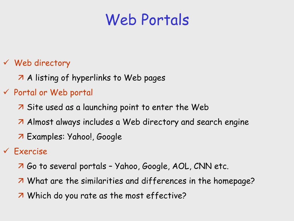 Web Portals