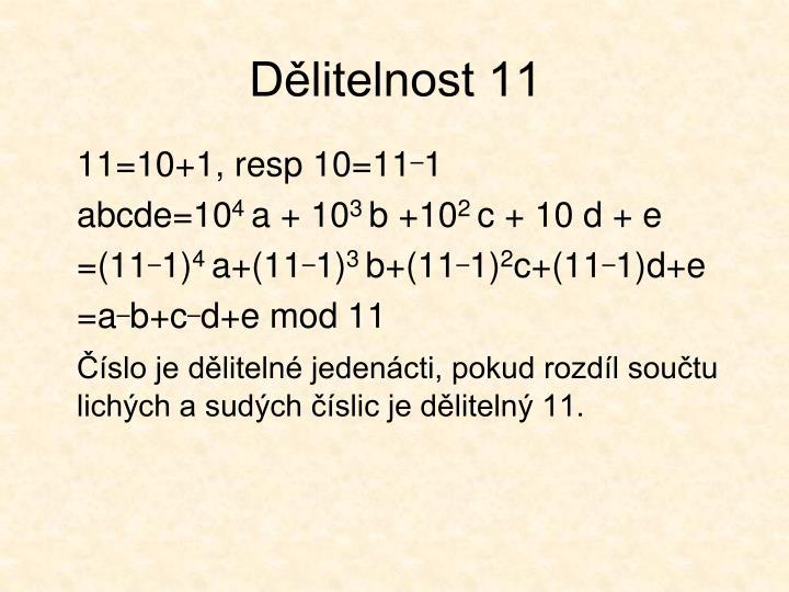 Dělitelnost 11