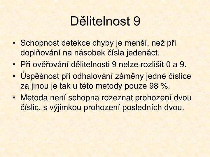 Dělitelnost 9