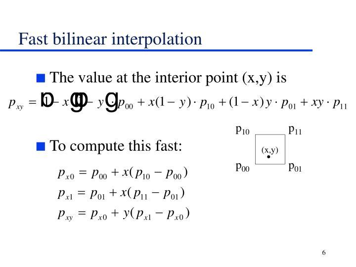 Fast bilinear interpolation