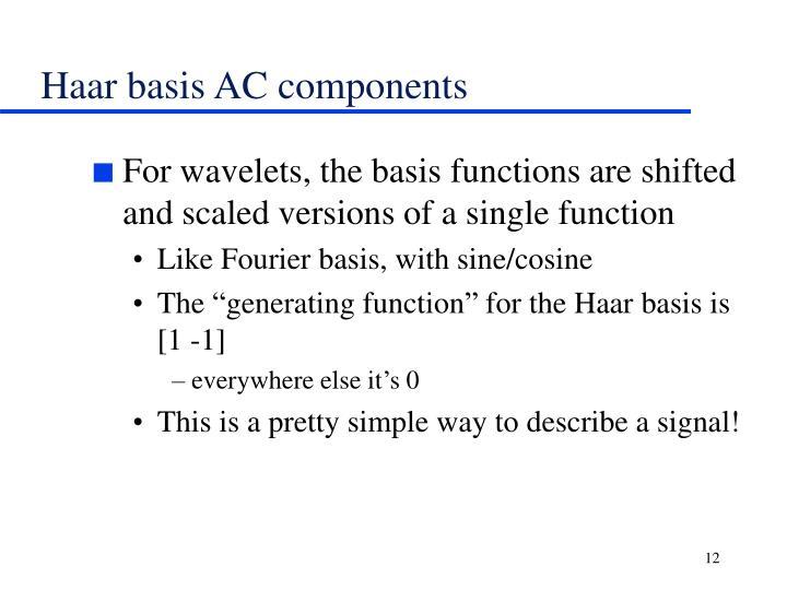 Haar basis AC components