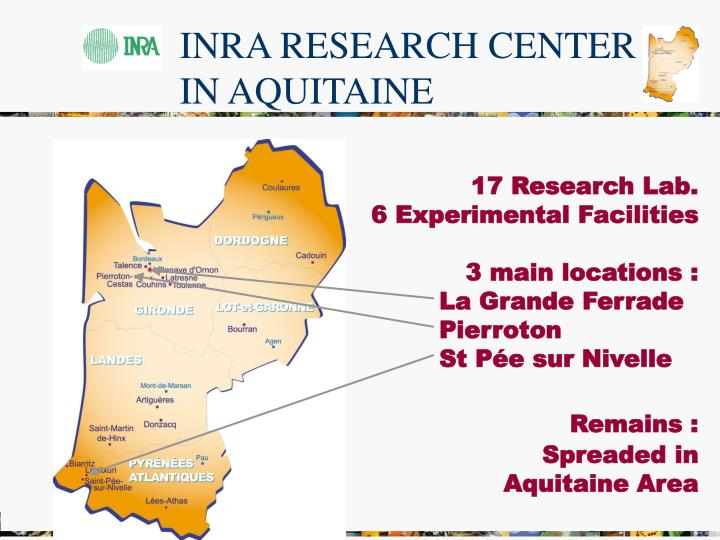 INRA RESEARCH CENTER