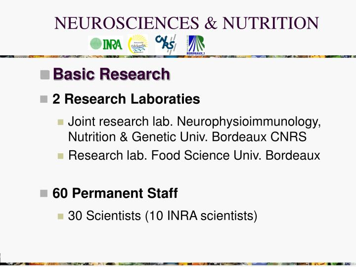 NEUROSCIENCES & NUTRITION