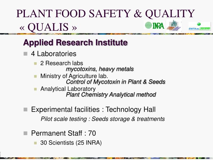 PLANT FOOD SAFETY & QUALITY