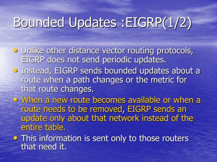 Bounded Updates :EIGRP(1/2)