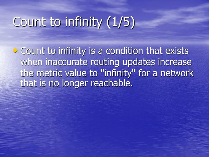 Count to infinity (1/5)