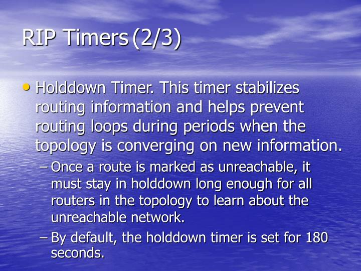 RIP Timers