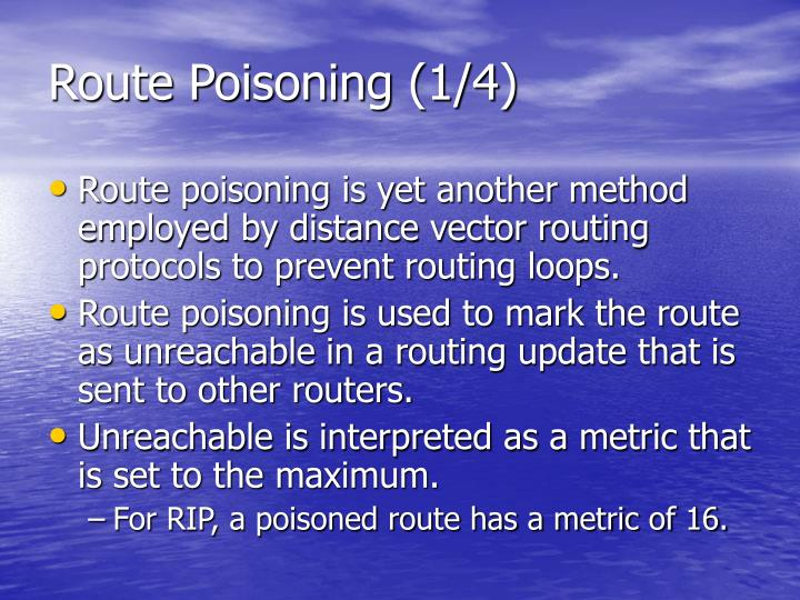 Route Poisoning (1/4)