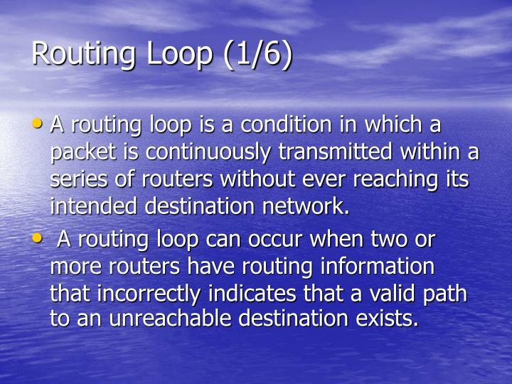 Routing Loop (1/6)