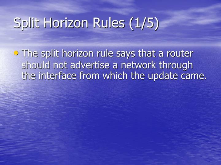 Split Horizon Rules (1/5)