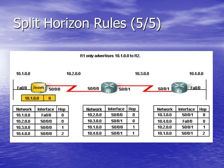 Split Horizon Rules (5/5)