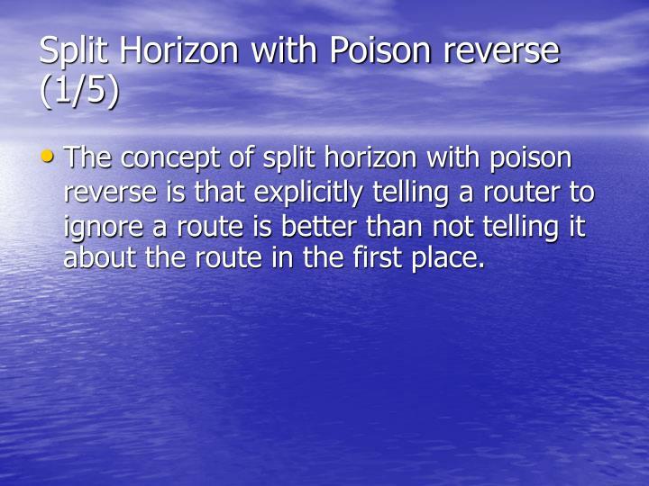 Split Horizon with Poison reverse (1/5)