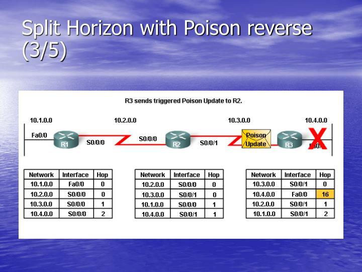 Split Horizon with Poison reverse (3/5)