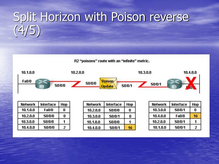 Split Horizon with Poison reverse (4/5)