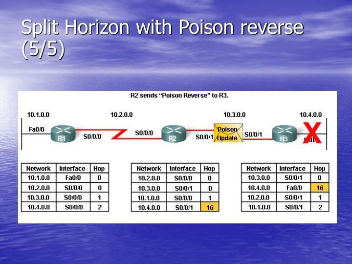 Split Horizon with Poison reverse (5/5)