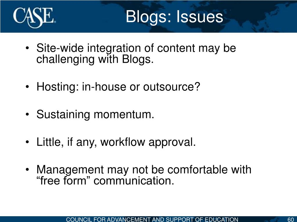 Blogs: Issues