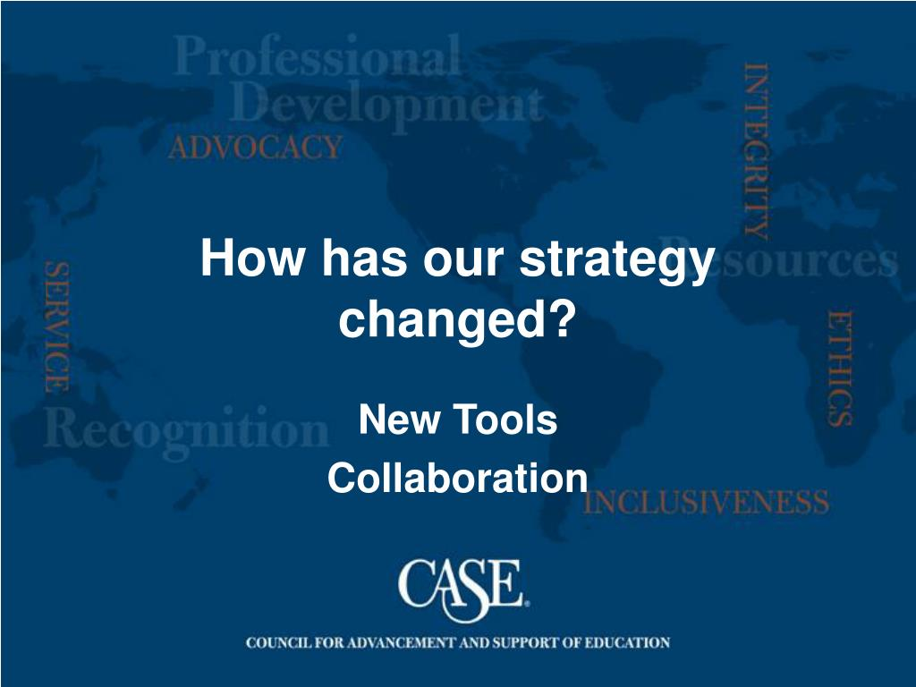 How has our strategy changed?