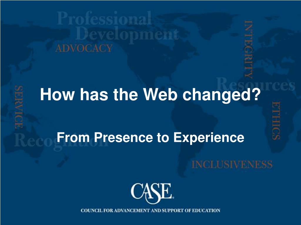 How has the Web changed?