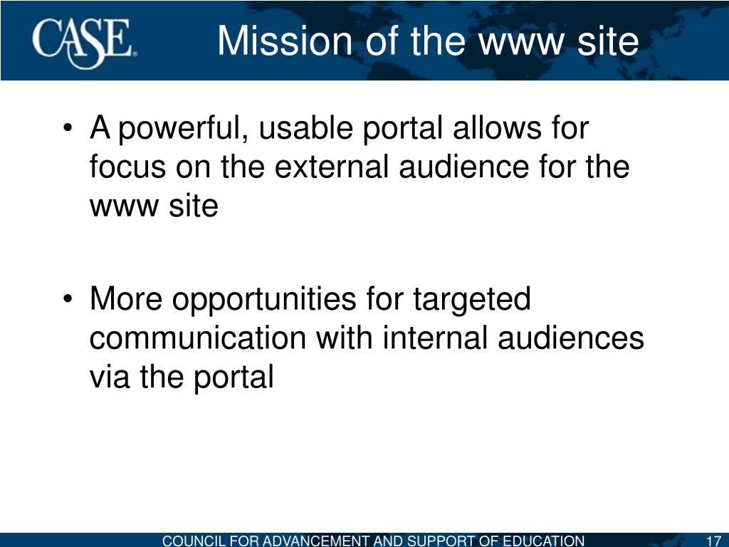 Mission of the www site