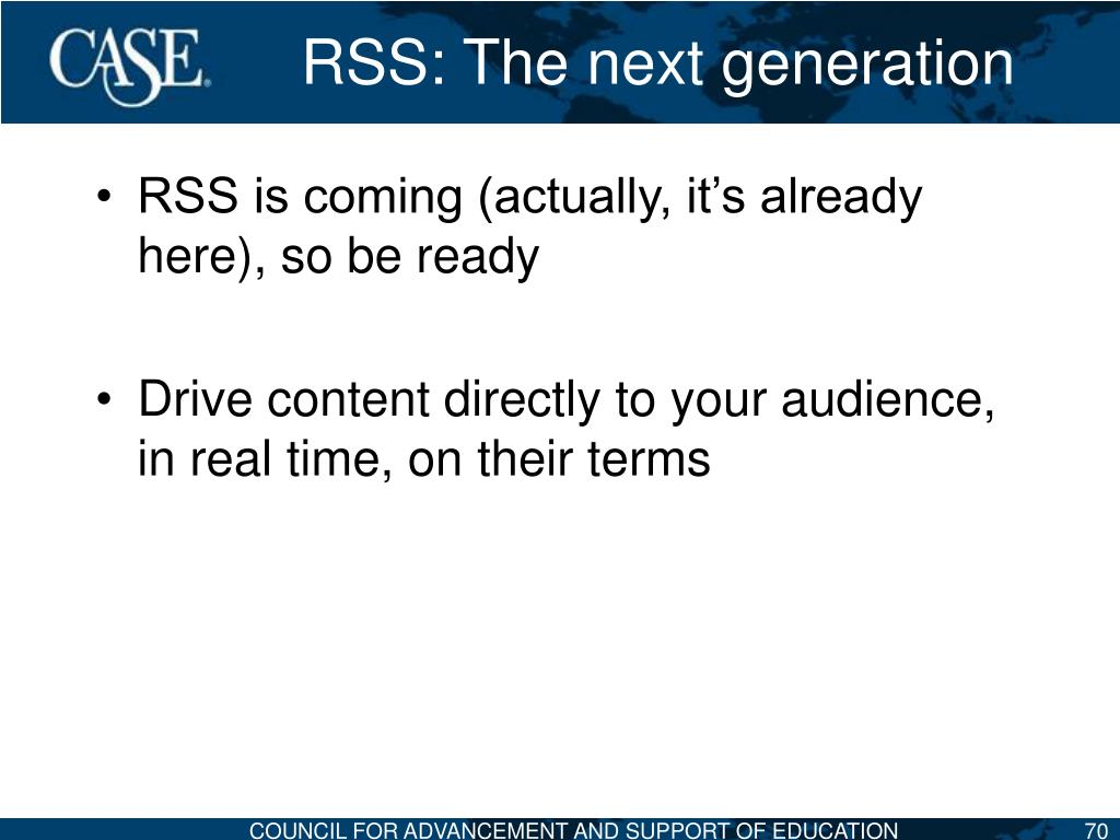 RSS: The next generation