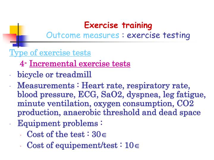 Exercise training
