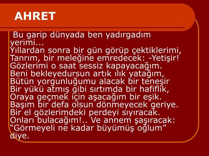 AHRET