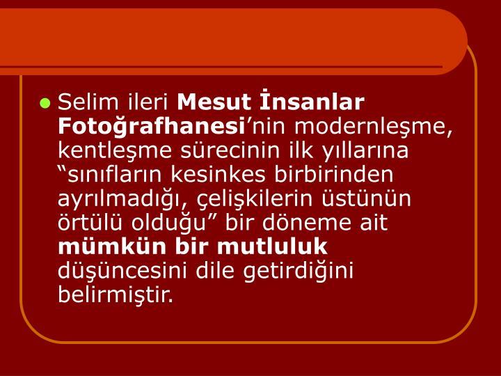 Selim ileri