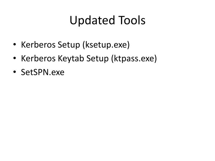 Updated Tools