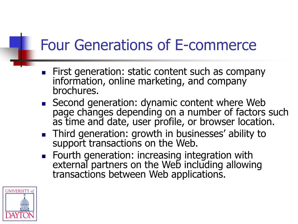 Four Generations of E-commerce