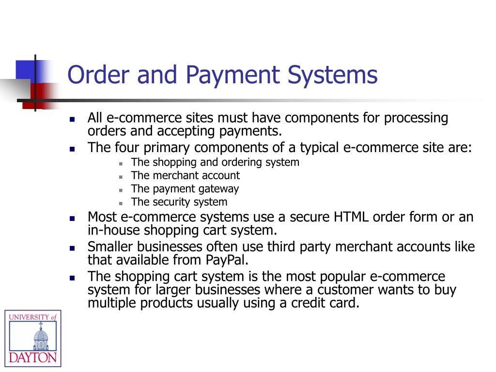 Order and Payment Systems
