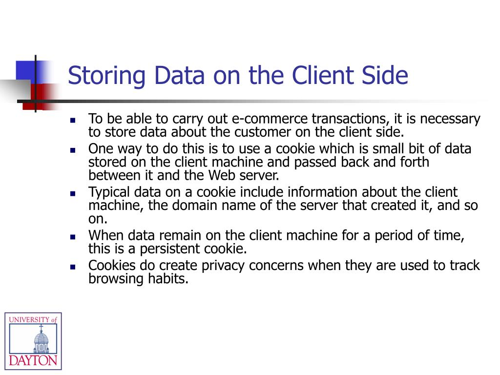 Storing Data on the Client Side