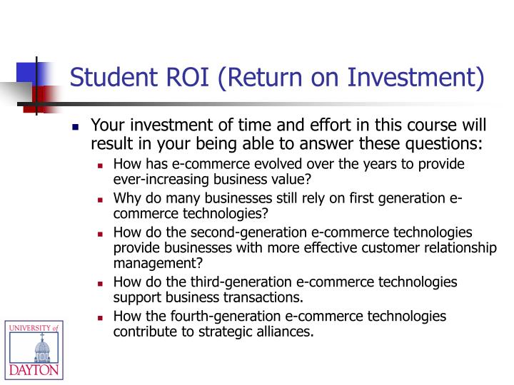 Student roi return on investment
