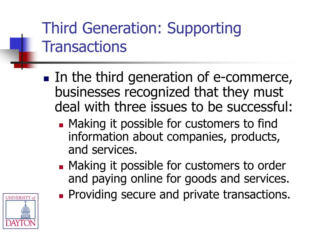 Third Generation: Supporting Transactions