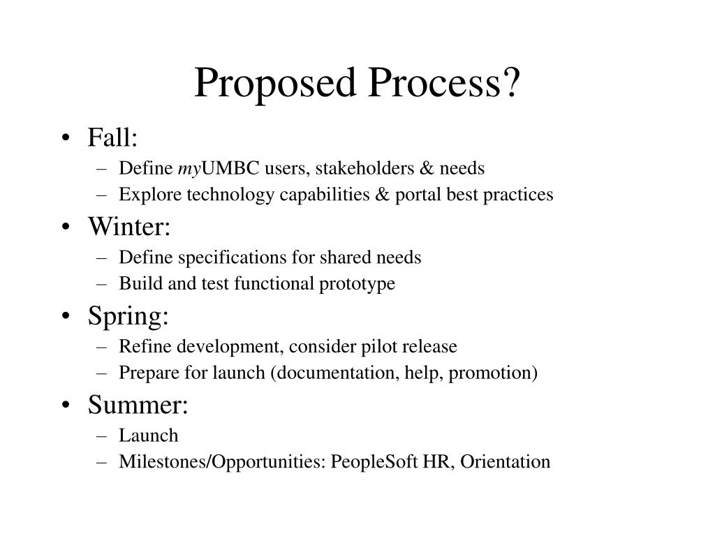 Proposed Process?