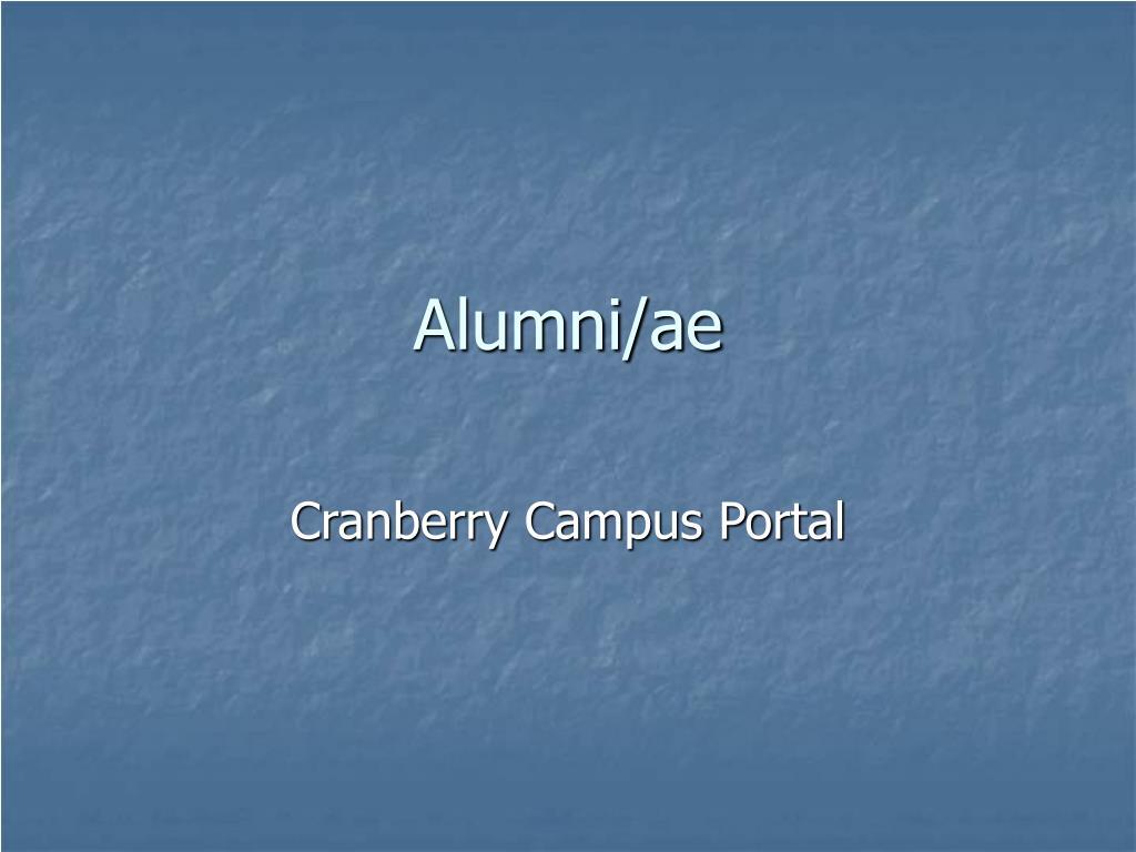 Alumni/ae