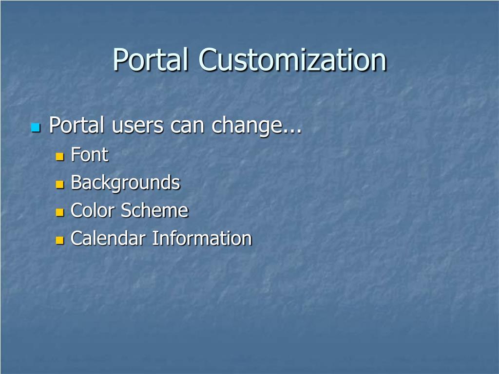Portal Customization