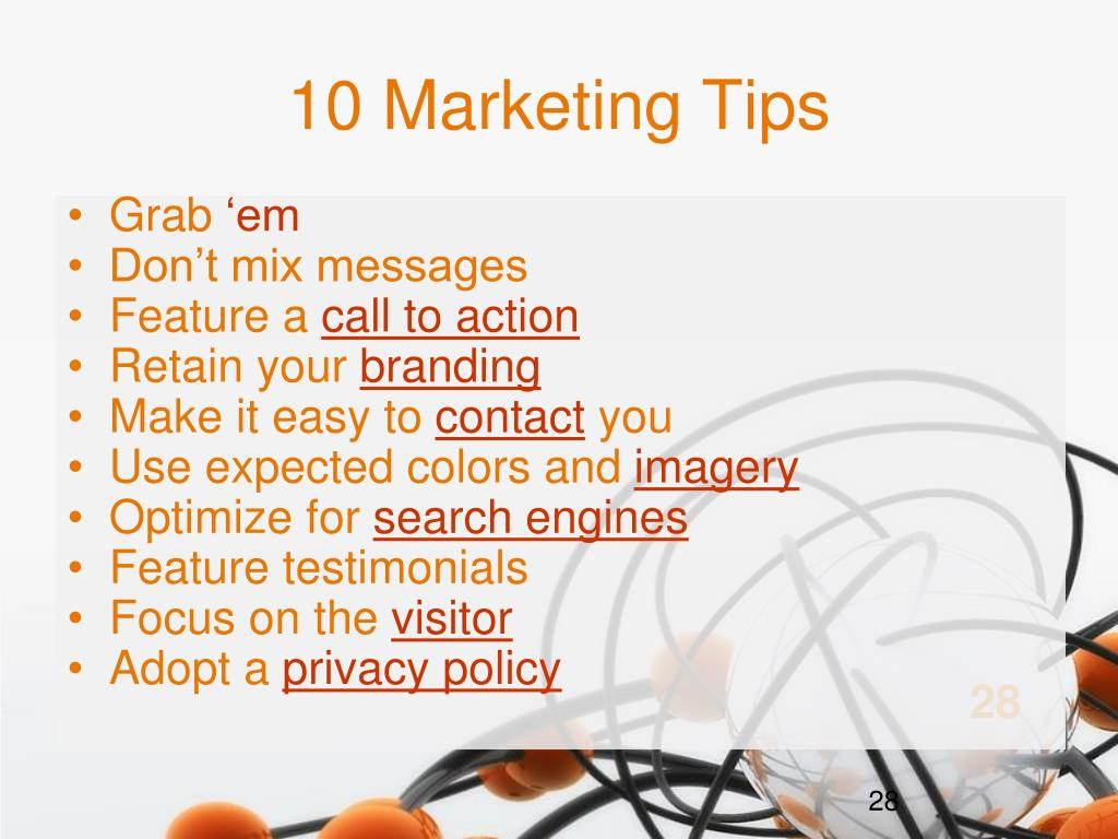 10 Marketing Tips