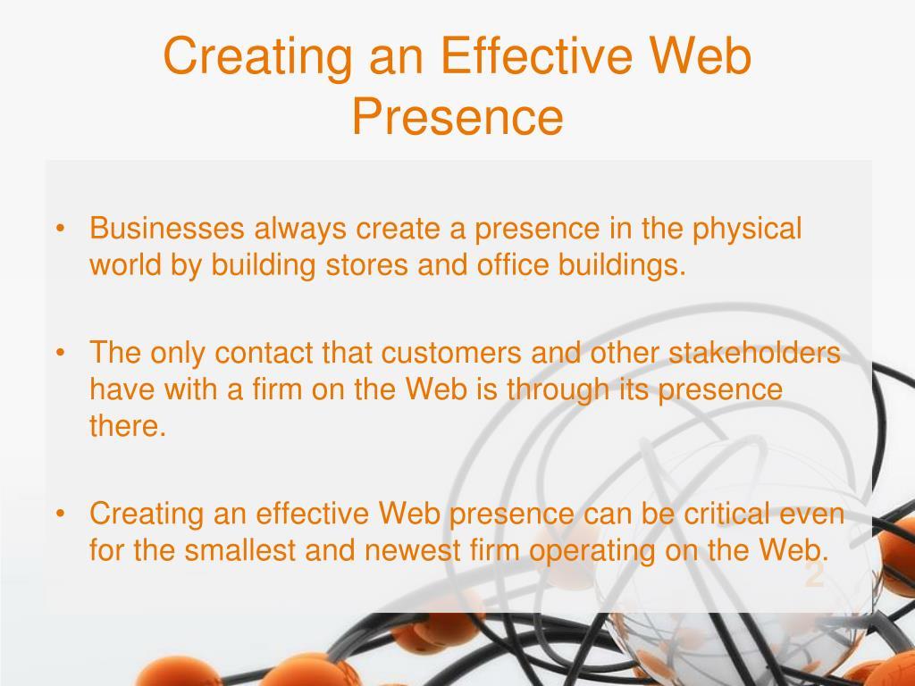 Creating an Effective Web Presence