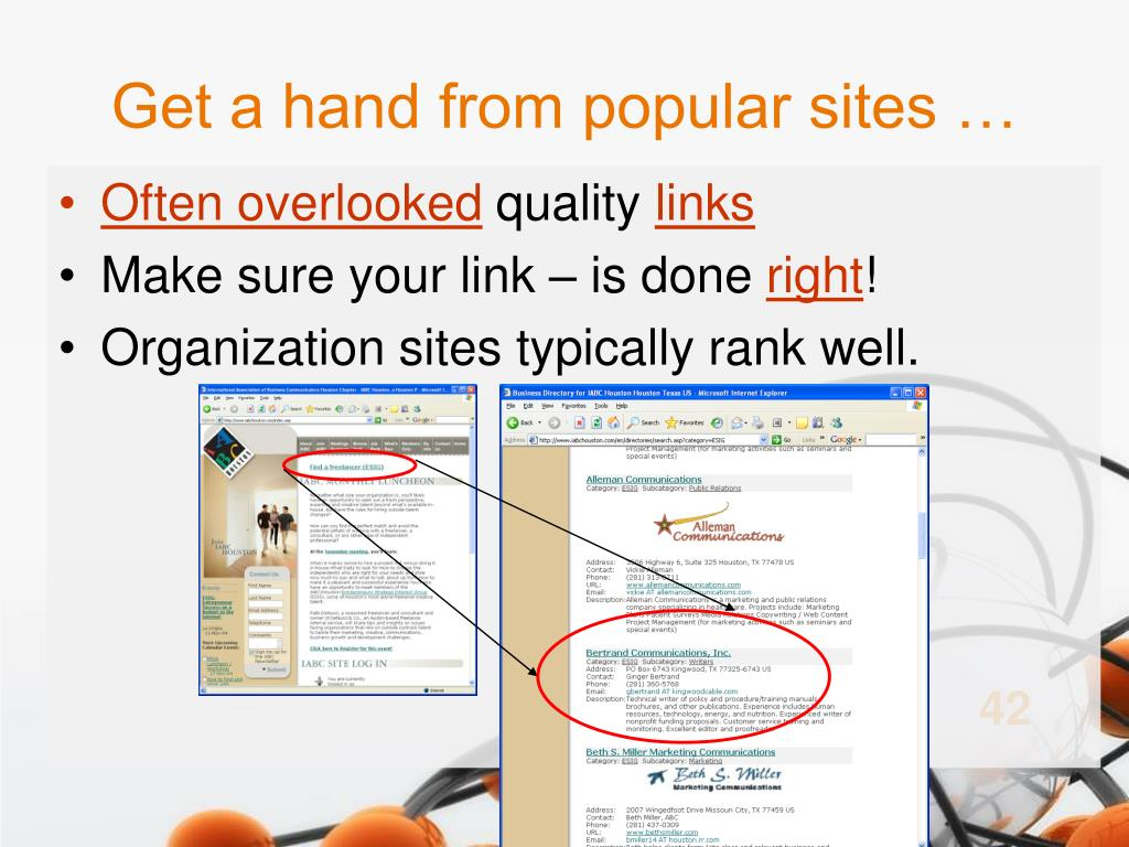 Get a hand from popular sites …