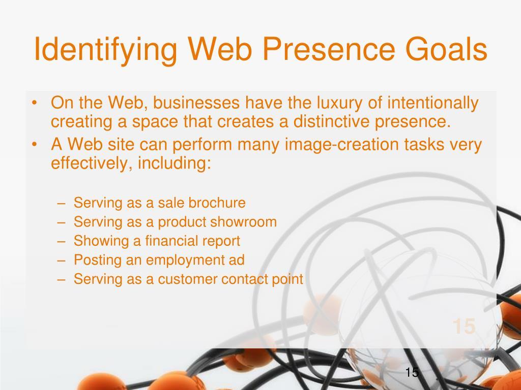 Identifying Web Presence Goals