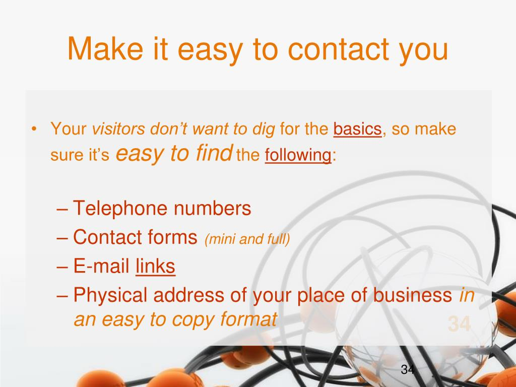 Make it easy to contact you