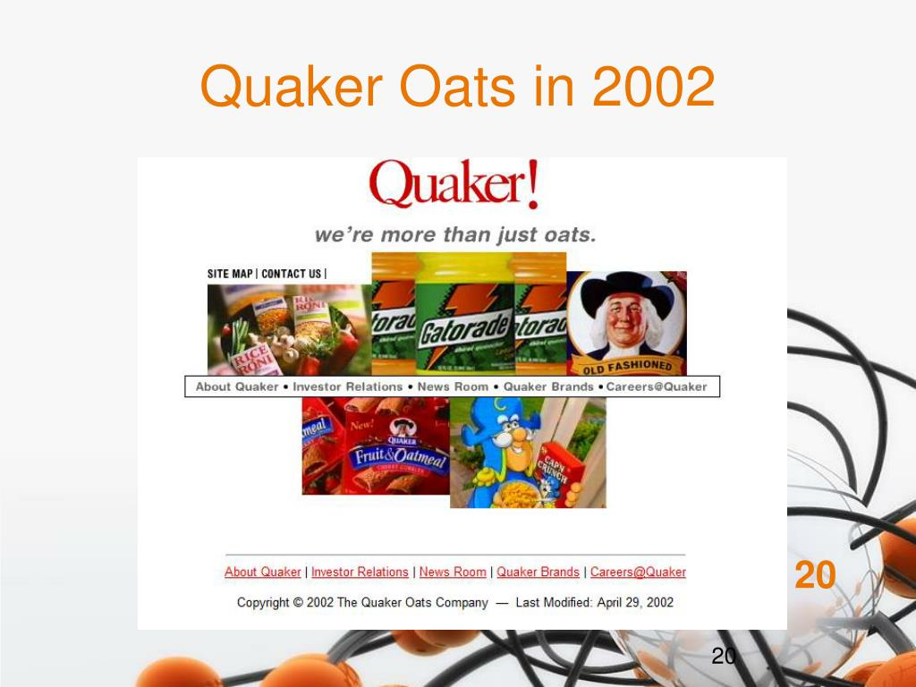Quaker Oats in 2002