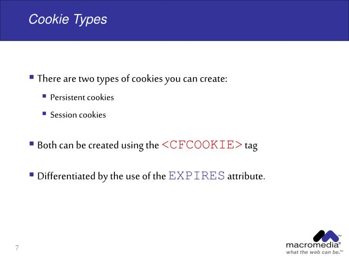 Cookie Types