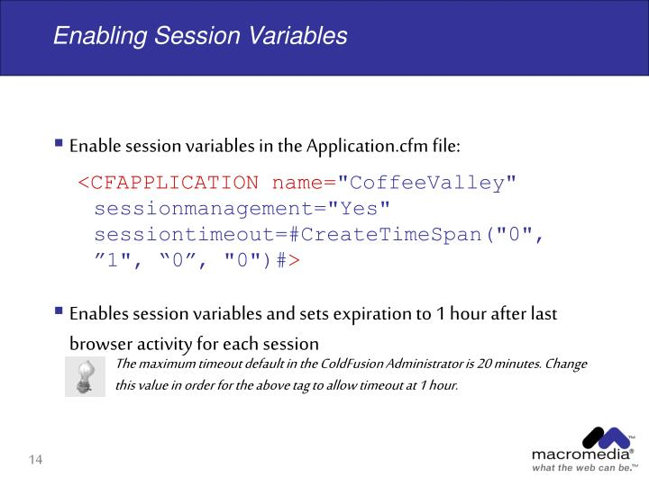 Enabling Session Variables