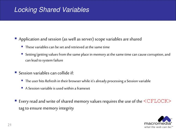 Locking Shared Variables