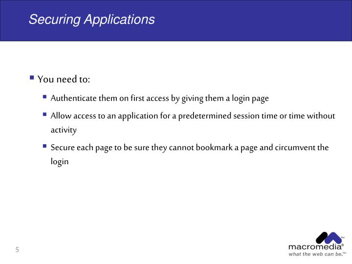 Securing Applications